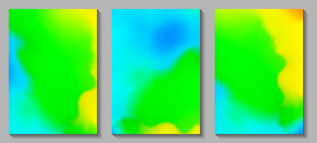 Fluid art. Modern artwork mesh gradient background. Mixture of colorful paint splash liquid. Abstract holographic texture, gradient waves. Vector design for banner, flyer, card, cover, invitation