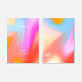 soft color, Fluid art painting backgrounds template with abstract and splash shape. Epic colorful banner trend, soft cotton candy color. Set of brochure,cover, and card template. Graphic composition.