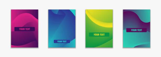 einfach flüssige farbe deckt. zusammensetzung der bunten geometrischen formen. - edm stock-grafiken, -clipart, -cartoons und -symbole