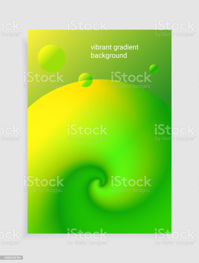 3D Fluid colorful liquid gradients background. Modern abstract...