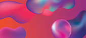 Abstract background fluid design in trendy bold synthwave colors.