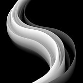 Modern and trendy background. Abstract design with a fluid 3d shape (black and white). Vector Illustration (EPS10, well layered and grouped). Easy to edit, manipulate, resize or colorize. Please do not hesitate to contact me if you have any questions, or need to customise the illustration. http://www.istockphoto.com/portfolio/bgblue