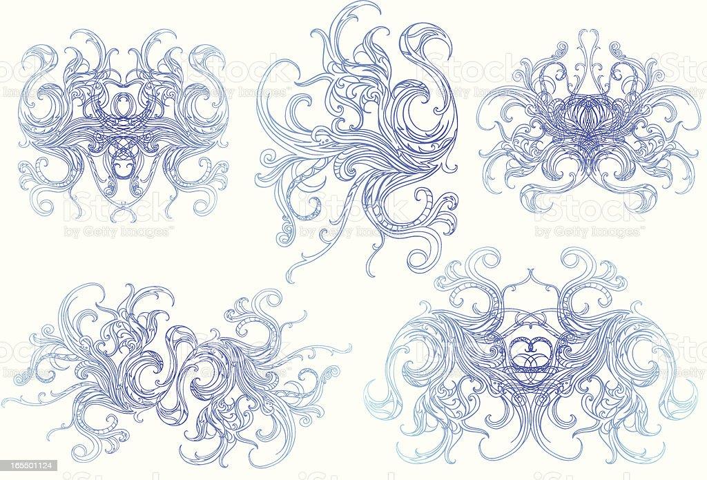 fluid flora royalty-free stock vector art