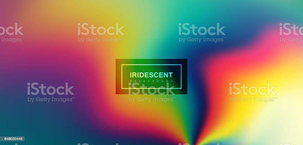 Fluid iridescent multicolored background. vector art illustration