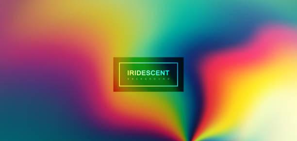 Fluido iridescente plano de fundo multicolorido. - ilustração de arte em vetor