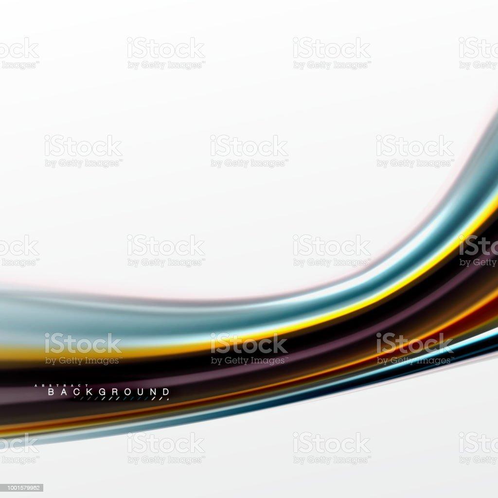 Fluid Liquid Mixing Colors Concept On Light Grey Background Curve ...