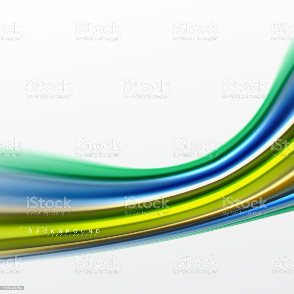 Ilustración de Líquido Líquido Mezcla Colores Concepto Sobre Fondo ...