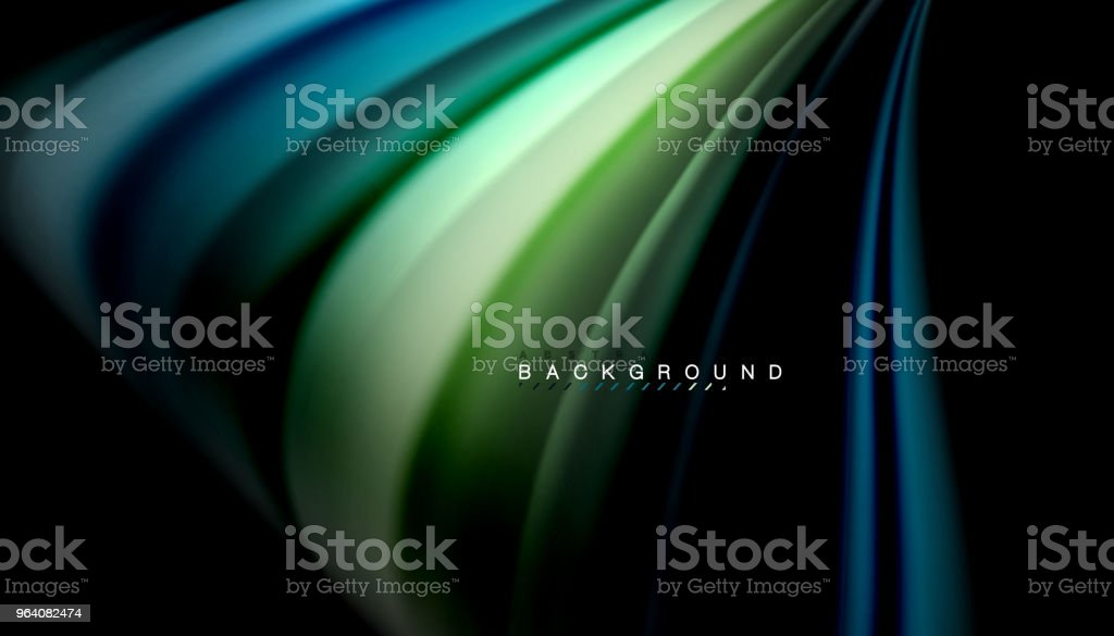 Fluid mixing colors, vector wave abstract background - Royalty-free Abstract stock vector