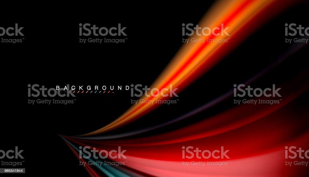 流體混合色, 向量波抽象背景 - 免版稅俄羅斯圖庫向量圖形