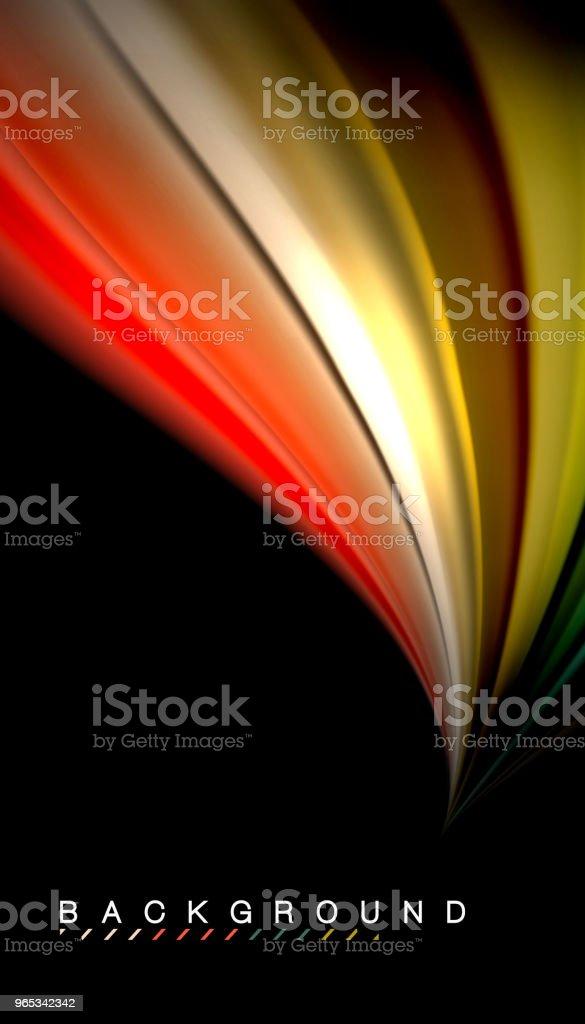 벡터 파 추상 배경 색상을 혼합 하는 유체 - 로열티 프리 0명 벡터 아트