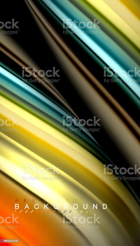 Liquide de mélange des couleurs, vecteur wave abstrait - clipart vectoriel de Abstrait libre de droits