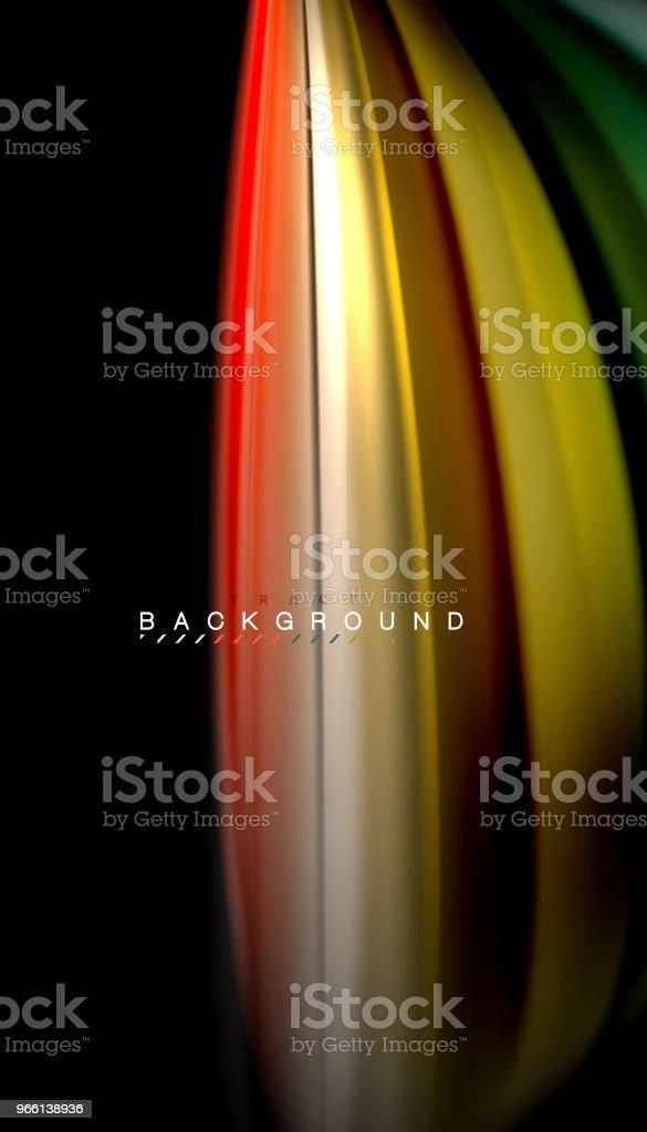 Líquido de mezcla de colores, vector de la onda Resumen antecedentes - arte vectorial de A la moda libre de derechos
