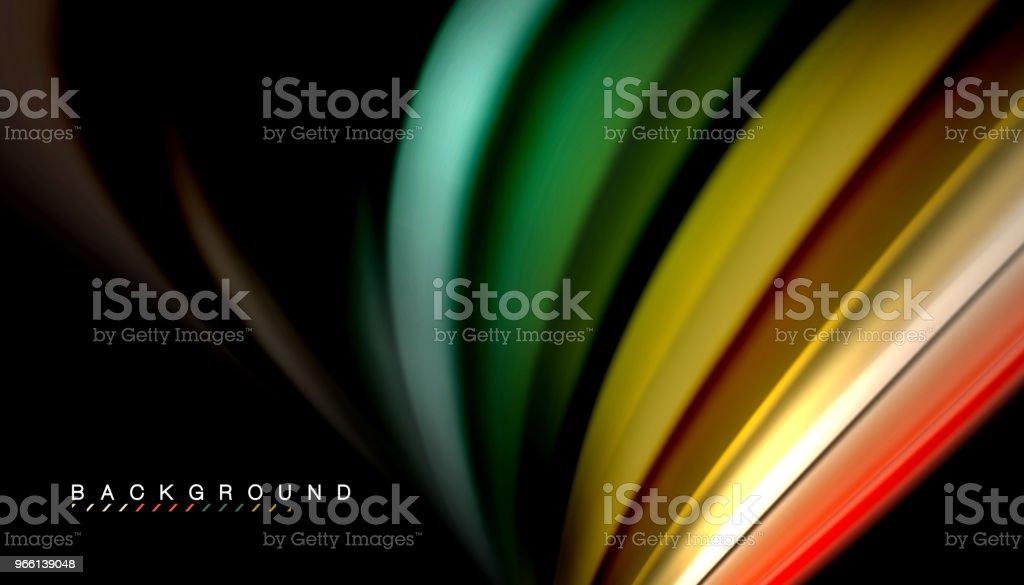 Flüssigkeit Mischen von Farben, Vektor Welle abstrakten Hintergrund - Lizenzfrei Abstrakt Vektorgrafik