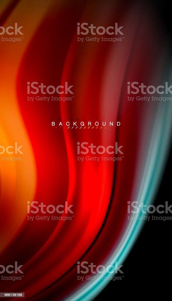 Vätska blanda färger, vektor våg abstrakt bakgrund - Royaltyfri Abstrakt vektorgrafik