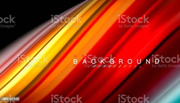 Vätska Blanda Färger Vektor Våg Abstrakt Bakgrund-vektorgrafik och fler bilder på Abstrakt