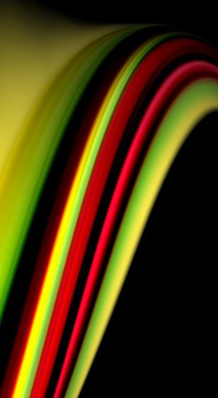 검은 배경에 유체 무지개 색 벡터 웨이브 라인 및 소용돌이 0명에 대한 스톡 벡터 아트 및 기타 이미지