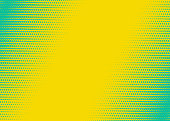 Fluorescent diagonal Gradient Abstract Background. Duotone texture. Yellow and green. Vector illustration
