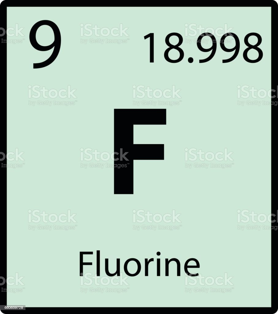Fluorine periodic table element color icon on white background stock fluorine periodic table element color icon on white background royalty free fluorine periodic table element urtaz