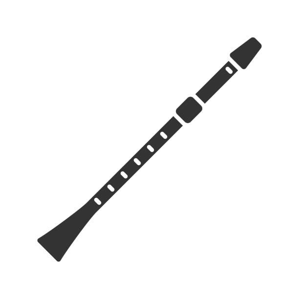 flute icon - klarnet stock illustrations