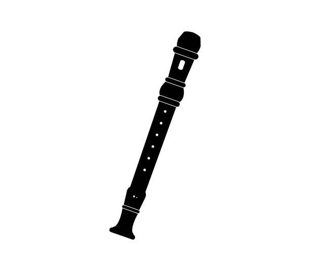 flute - flet stock illustrations