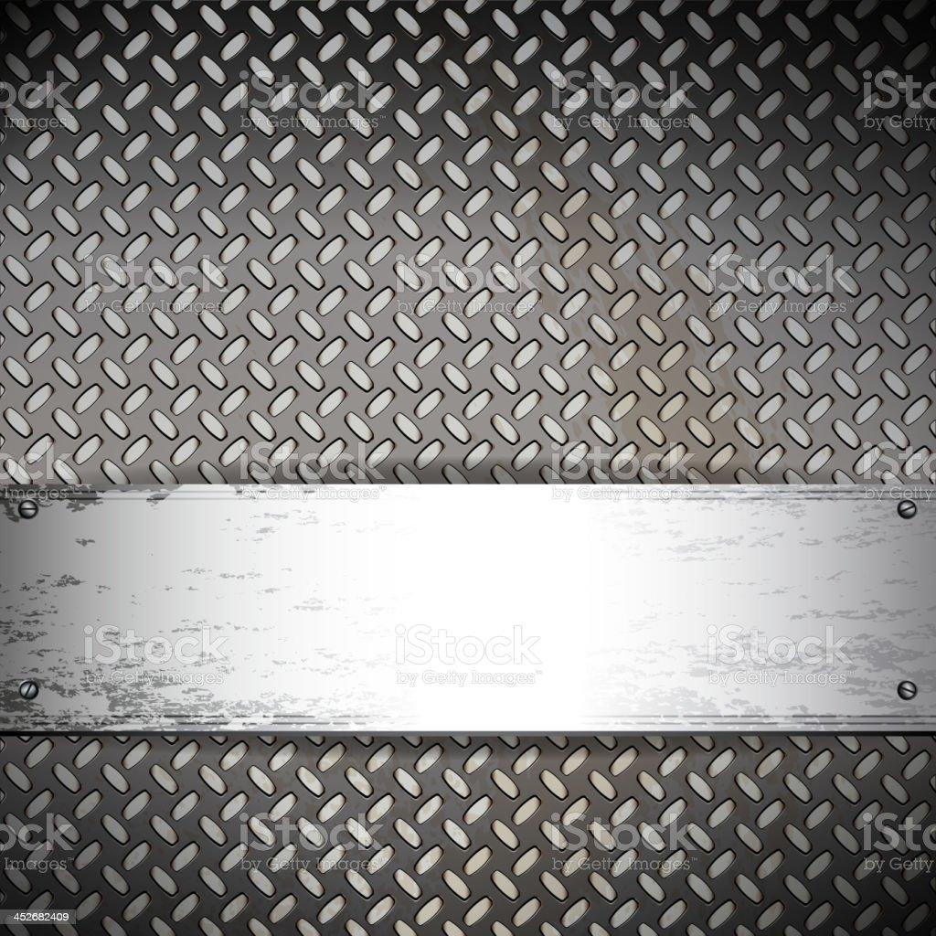 Fluted metal background. Vector Illustration vector art illustration