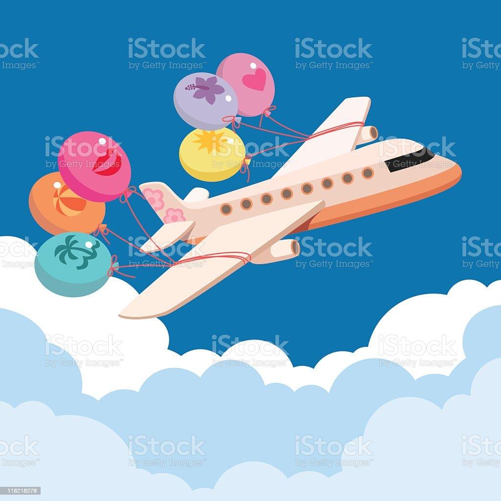Fly away! royalty-free stock vector art