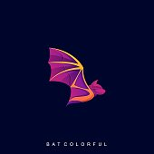 Fly Bat Illustration Vector Template