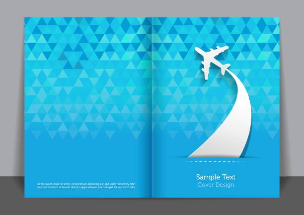 Fly Cover design Fly Cover design airport backgrounds stock illustrations