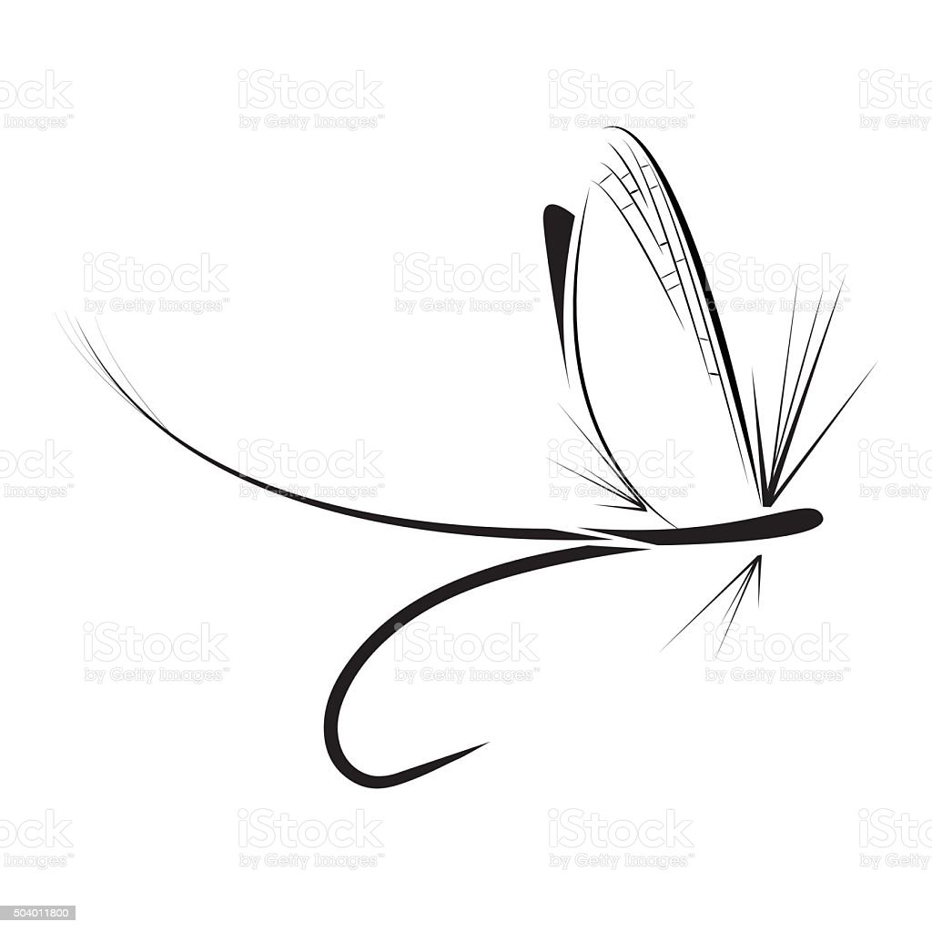 Fly Fishing Icon Stock Illustration - Download Image Now ...