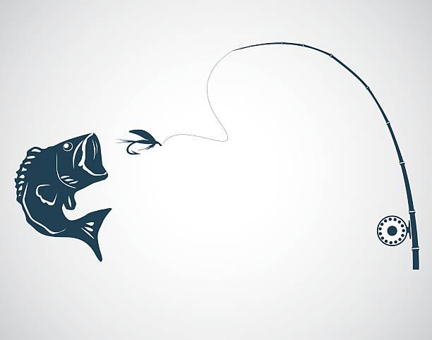 bildbanksillustrationer, clip art samt tecknat material och ikoner med fly fishing - summer sweden