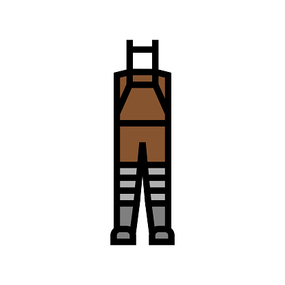 fly fishing waders color icon vector. fly fishing waders sign. isolated symbol illustration