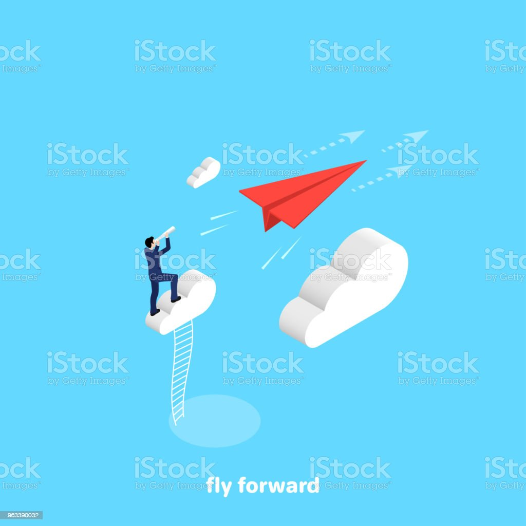 fly forward - Grafika wektorowa royalty-free (Akta)