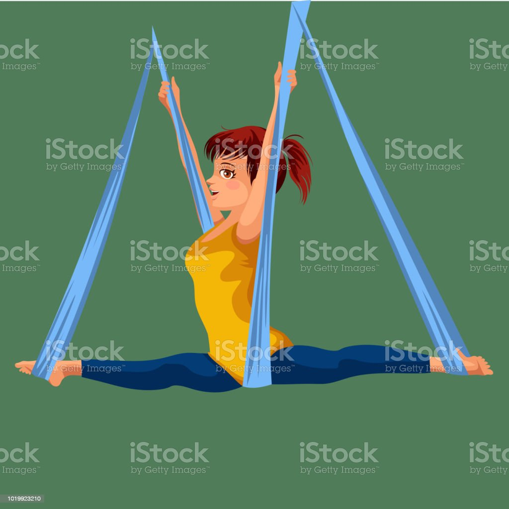 Royalty Free Aerial Yoga Clip Art Vector Images