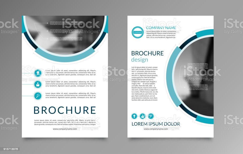 Flyer Brochure Layout Template A Size Front And Back Page Vector - Flyer brochure templates