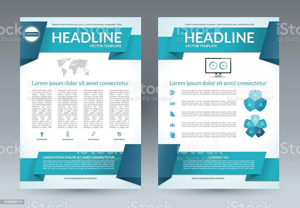 volantino di layout modello brochure formato a4 vettoriale