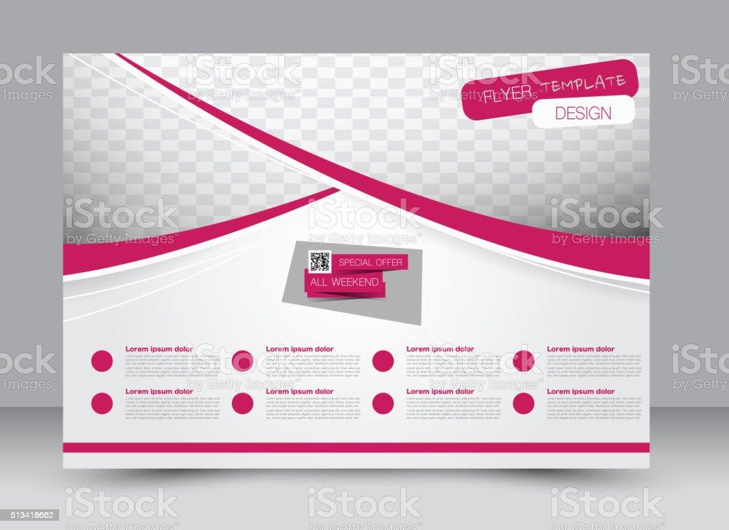 Flyer, brochure, magazine cover template design landscape orientation...