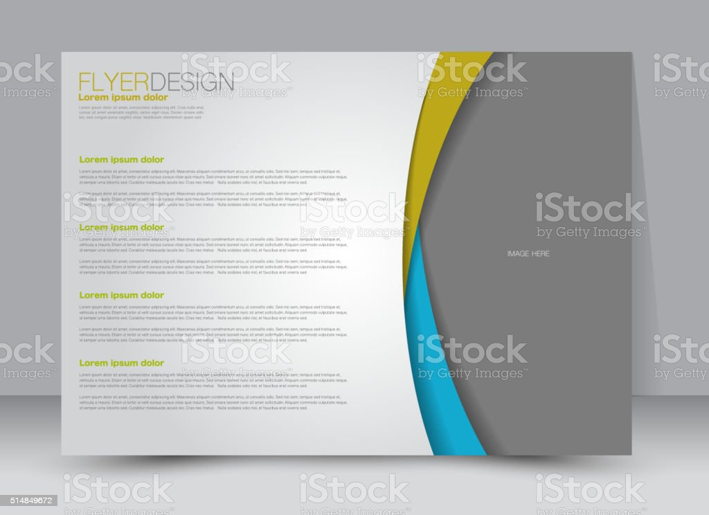 Flyer, brochure, magazine cover template design landscape orientation vector art illustration