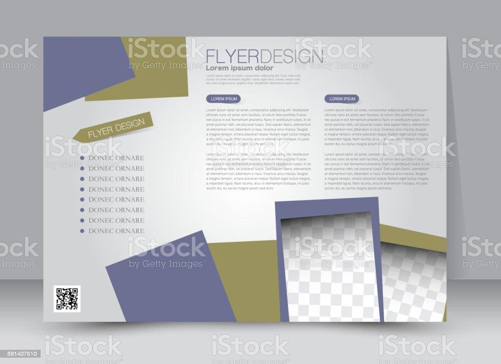 Flyer, brochure, billboard template design landscape orientation for...