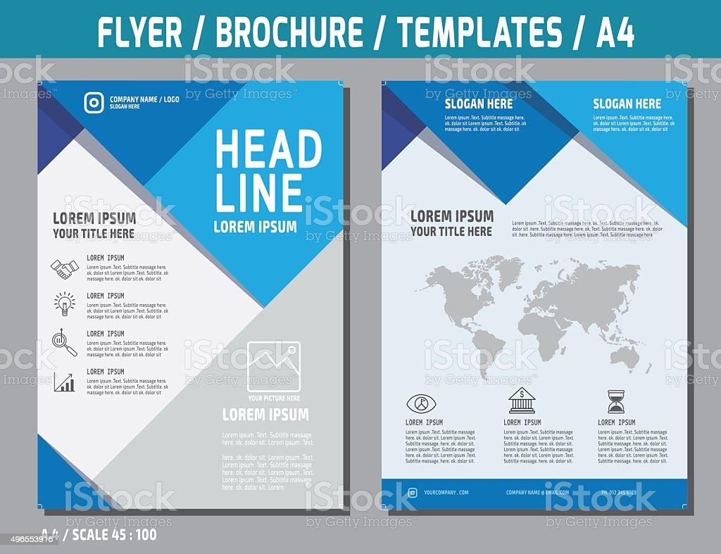 flyer, brochure, template, vector art illustration