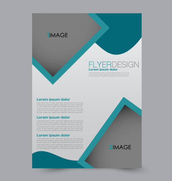 flyer design background. brochure template. - resume templates stock illustrations