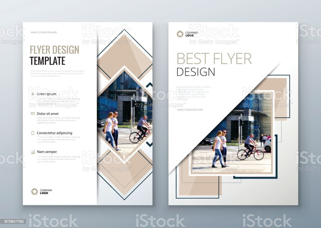 Flyer design. Corporate business report cover, brochure or flyer design. Leaflet presentation. Teal Flyer with abstract circle, vector art illustration
