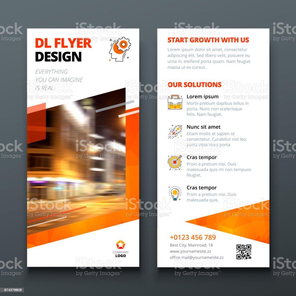 ilustração de disposição de projeto flyer dl modelo de negócios