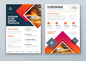 Flyer design. Modern Flyer Background Design. Corporate Template Layout Flyer Mockup. Concept with Square Rhombus Shapes. Vector Background. Set - GB075.