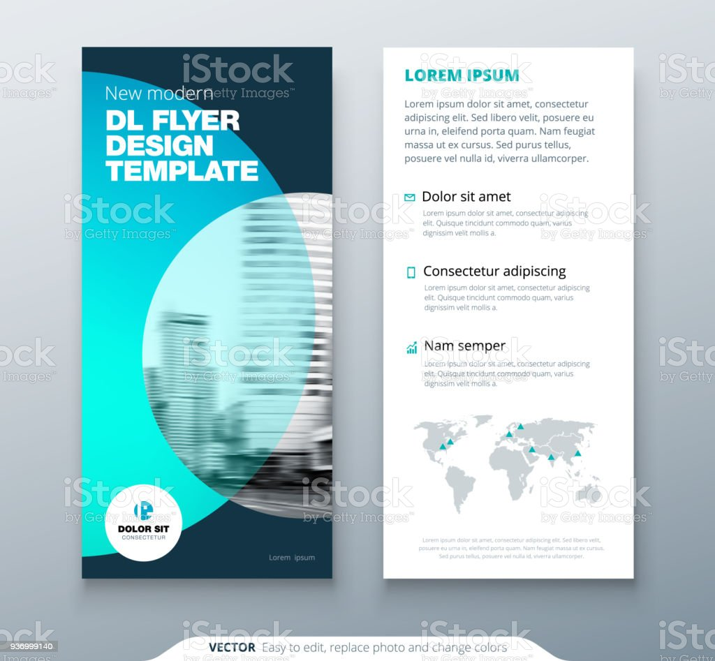 Dl Flyer Design Teal Business Template For Dl Flyer Layout With ...