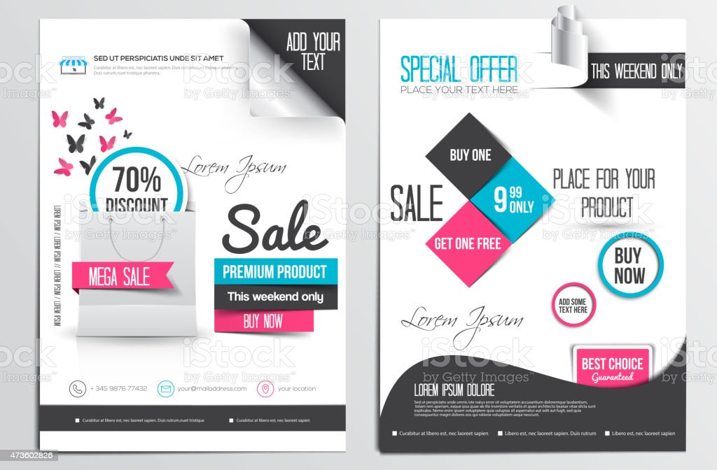 Flyer Design Template vector art illustration