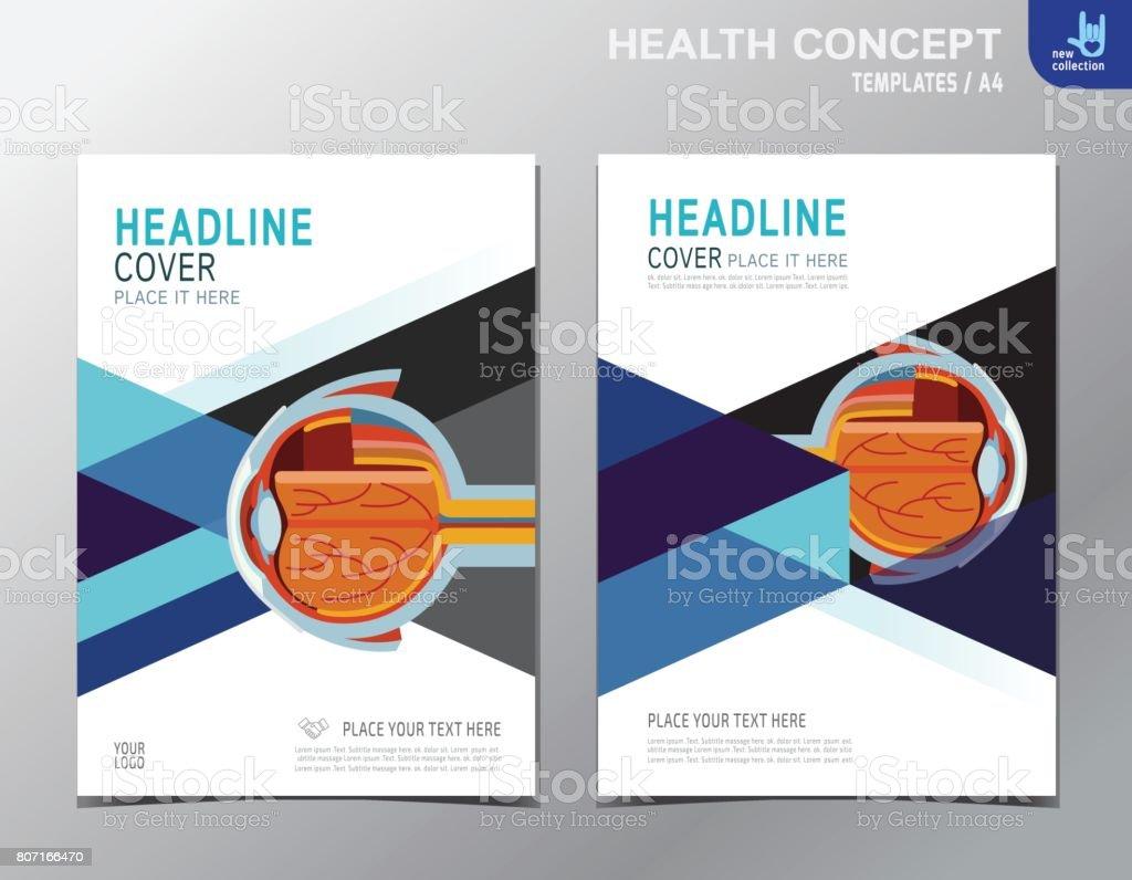 Flyer Health Leaflet Brochure Template A4 Size Design Medical Cover
