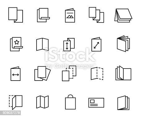 Flyer icon set, vector illustration