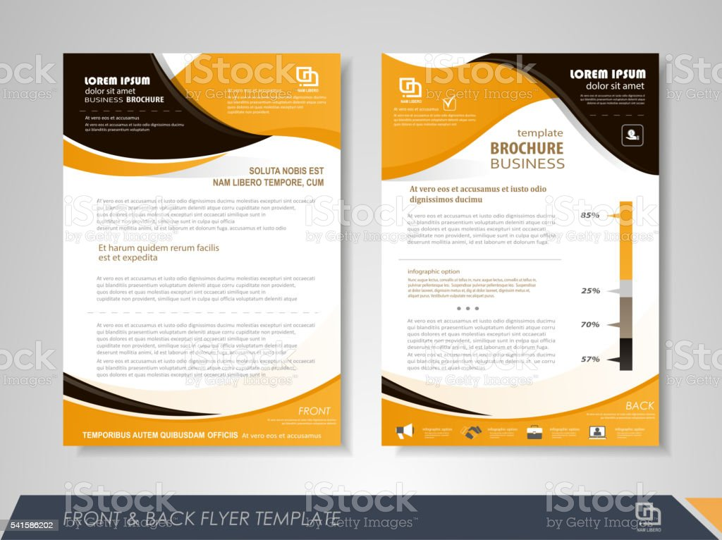 Flyer Layout Stock Vector Art More Images Of Abstract 541586202