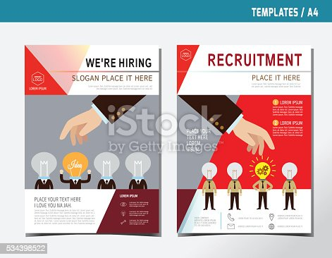 Flyer leaflet brochure template a4 size business hiring for Recruiting brochure template