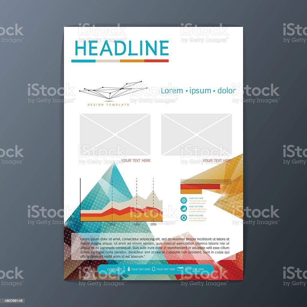 Ilustración de Flyer Revistas Folleto Plantilla De Diseño De Vector ...